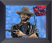 Clint Eastwood In Outlaw Josey Wales Fine Art Framed Print
