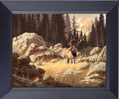 Elk In The Wild Rocky Mountains Framed Print