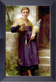 Fileuse - By William Bouguereau 17 X 23 Framed Print
