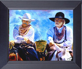 Gus And Call Leaving Lonesome Dove Fine Art Framed Print