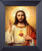 Jesus Christ In Halo Framed Print
