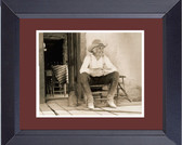 Lonesome Dove Gus On Porch Framed Print