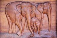 Threefold Elephants Family - Wall Hanging