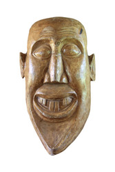 Decorative Wooden Walll Hanging - Facemask