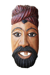 Decorative Wooden Walll Hanging of a Farmer - Facemask