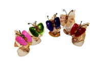Decorative Butterfly made of Lacquered Seashells, set of 10