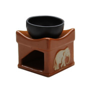 Handmade Oil Burner ACL-725 - Light Brown