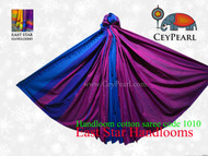 Handloom Cotton Saree - 1010 - Magenta, Royal Blue, Navy Blue