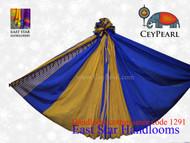 Handloom Cotton Saree - 1291 - Silver, Royal Blue & Raven Gold