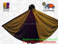 Handloom Cotton Saree - 1287 - Maroon, Cardinal & Gold