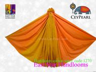Handloom Cotton Saree - 1270 - Orange, Red & Gold