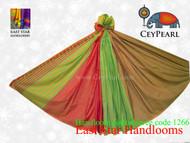 Handloom Cotton Saree - 1266 - Lime, Hot Pink & Gold