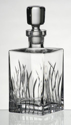 Luxury Thick Hand Blown Spirit Decanter / Wine Carafe, Lead Free, 34 fl oz (1 l)