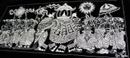 Kandy Esala Perehera on Velvet - Silver