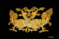 Hansa Puttuwa -  Decorative motif of twin swans - Gold