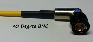 4 Inch 90 degree BNC to 90 Degree BNC (SDI-90-04)