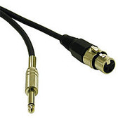 50ft Pro-Audio Cable XLR Female to 1/4in Male - 40044