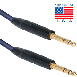 "35ft Gold Plated 1/4"" TRS Male to 1/4"" TRS Male Cable"