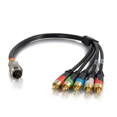 1.5ft RapidRun Component Video and Stereo Audio Flying Lead