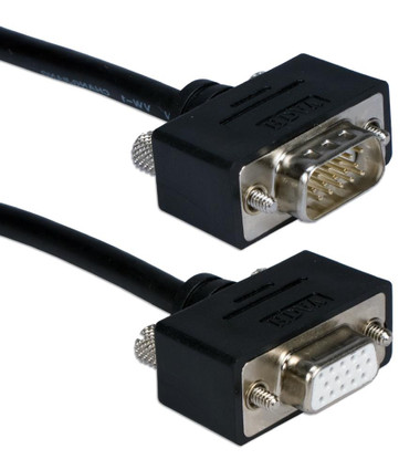 2ft UltraThin VGA HD15 Extension Cable Male to Female