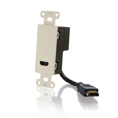 HDMI Pass Through Decora Style Wall Plate - Ivory