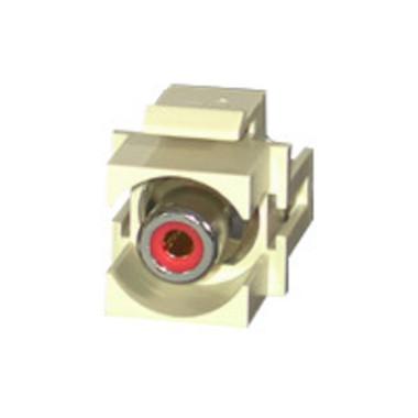 Red RCA F/F Keystone Insert Module - Ivory (28742)