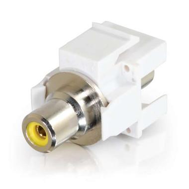 Yellow RCA F/F Keystone Insert Module - White (28745)