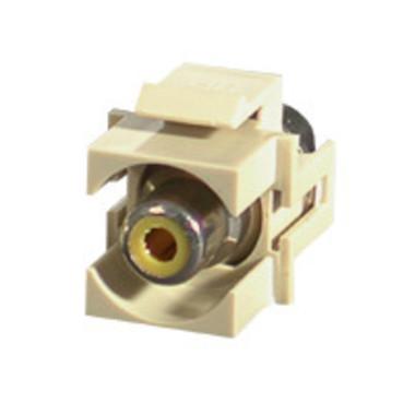 Yellow RCA F/F Keystone Insert Module - Ivory (28744)