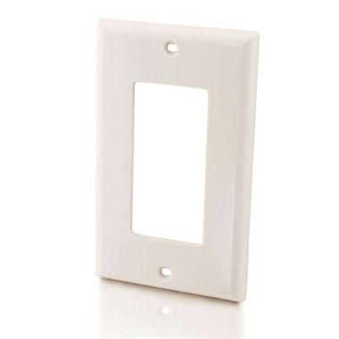 Decorative Single Gang Wall Plate - White (03725)