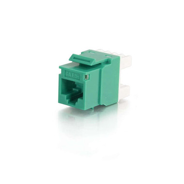 180° Cat5E RJ45 UTP Keystone Jack - Green