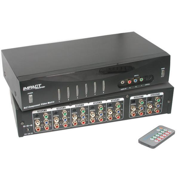 6x2 Component Video Audio Digital Matrix Switch 40697 Loading Zoom