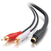 25ft S-Video + RCA Stereo Audio Cable (02311)