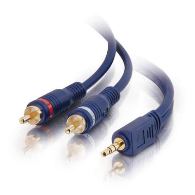 25ft Velocity 3.5mm Stereo to RCA Stereo Audio Y-Cable (40616)