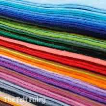 """Wool Blend Felt - The Full Monty - One Each of All Our Colours - 48x 12"""" Squares - Wool Blend Felt"""