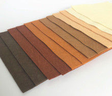 "Neutrals 9x4.5"" 6 Shades / 12 Sheets - Wool Blend Felt"