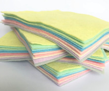Pastels Collection 10 Sheets of Felt - Wool Blend Felt
