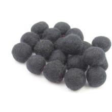 Black Felt Balls