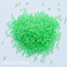 Bright Green Glass Seed Beads - 20g