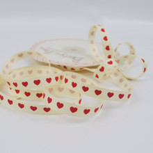 Red Heart / Ivory Grosgrain Ribbon
