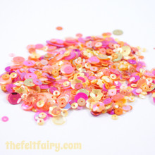 Mixed Sequins - Tropical Pink and Orange