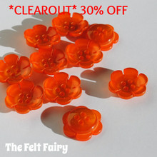 Bright Flower Buttons - Orange