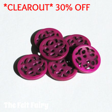 Filigree Button - Fuchsia