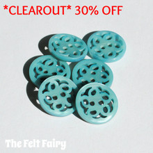 Filigree Button - Turquoise
