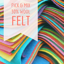 "Pick & Mix - 9x4.5"" Sheets - Wool Blend Felt"