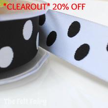 *3.5 metre* Black and White Reversible Polka Dot Ribbon
