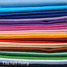"Starter Pack - 25 x 12"" Squares - Wool Blend Felt"