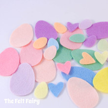 Easter Felt Shapes - Eggs and Hearts
