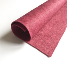 "Pomegranate - Heathered Felt - 50% Wool - 12"" Square"