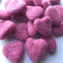 Candy Pink Wool Felted Heart