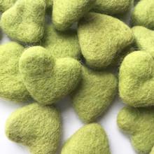 Apple Green Wool Felted Heart